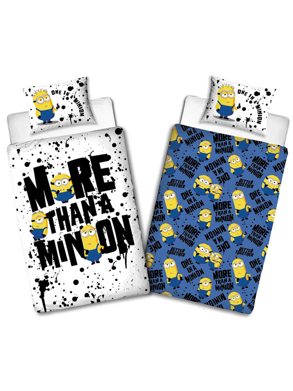 Minions 2 Spray Single Duvet Cover and Pillowcase Set