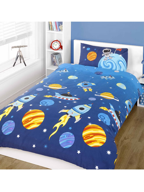 rocket junior toddler duvet cover and pillowcase set
