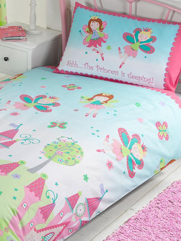 Princess is Sleeping 4 in 1 Junior Bedding Bundle (Duvet, Pillow and