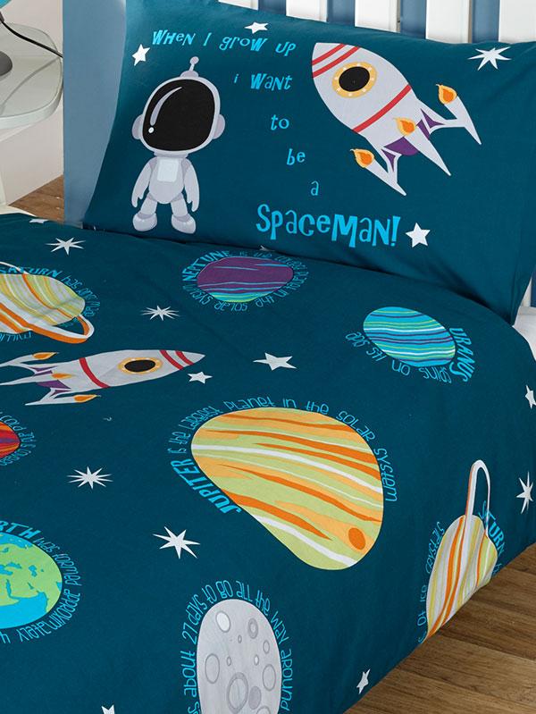 Solar System Planets    Space 4 in 1 Junior Bedding Bundle (Duvet,