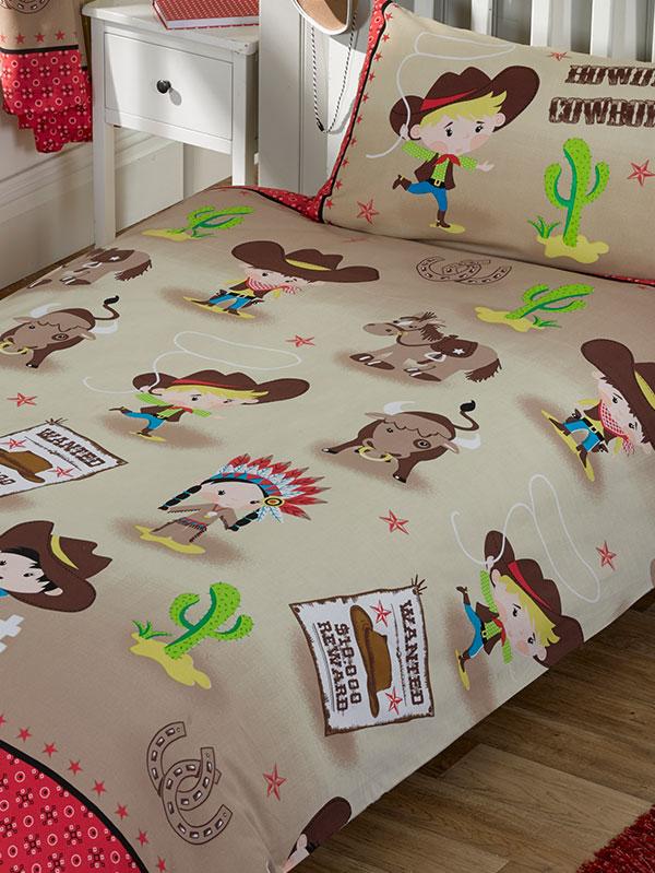 Howdy Cowboy Single Duvet Cover and Pillowcase Set