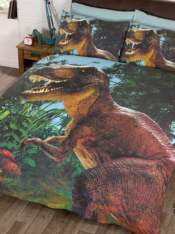 Jurassic T-Rex Dinosaur Double Duvet Cover Set - Exclusive Design