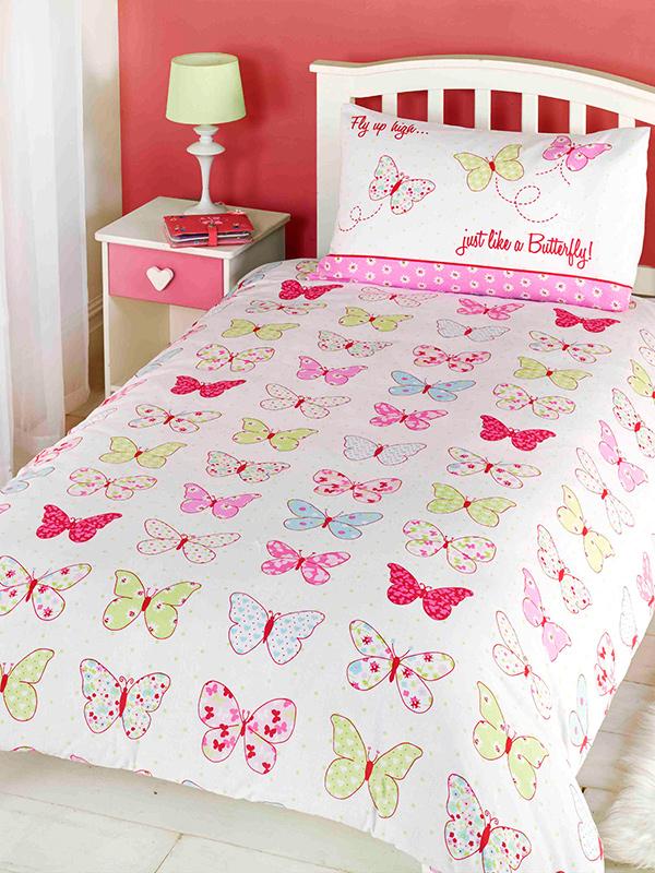 Fly Up High Butterfly Junior Toddler Duvet Cover & Pillowcase Set