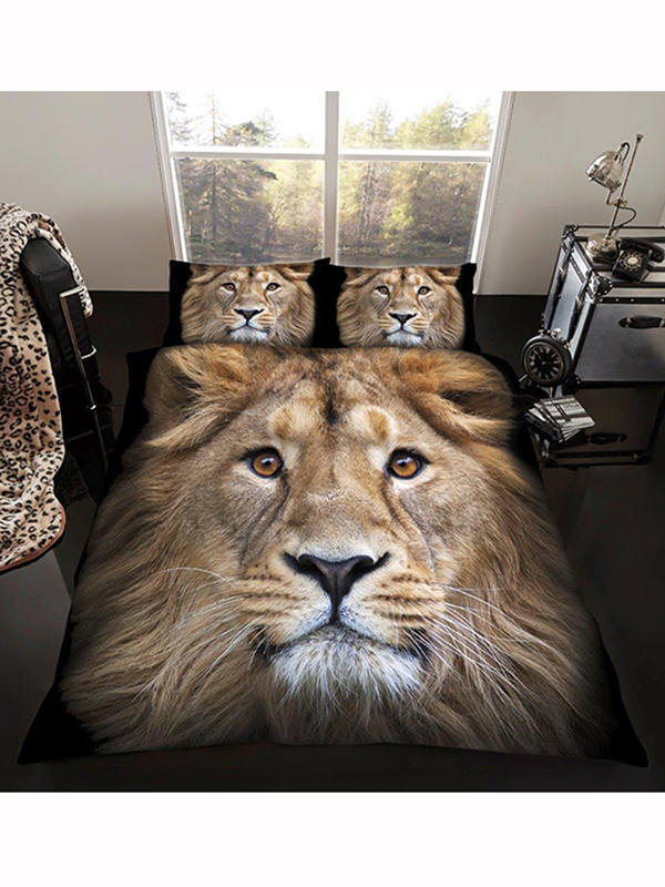 Lion King Size Duvet Cover and Pillowcase Set