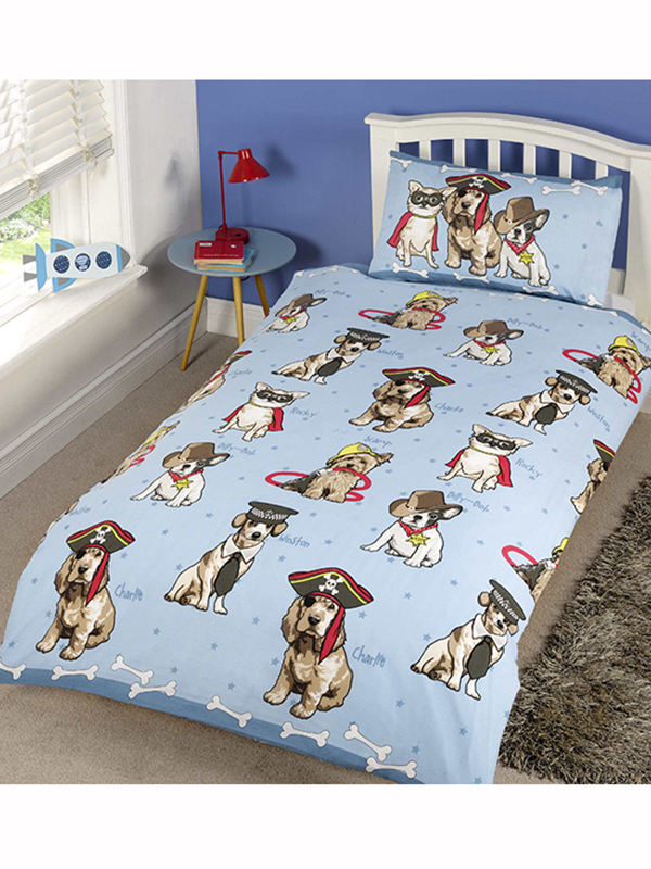 doggies single duvet cover and pillowcase set