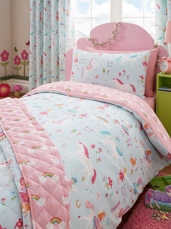 Magical Unicorn 4 in 1 Junior Bedding Bundle (Duvet, Pillow and