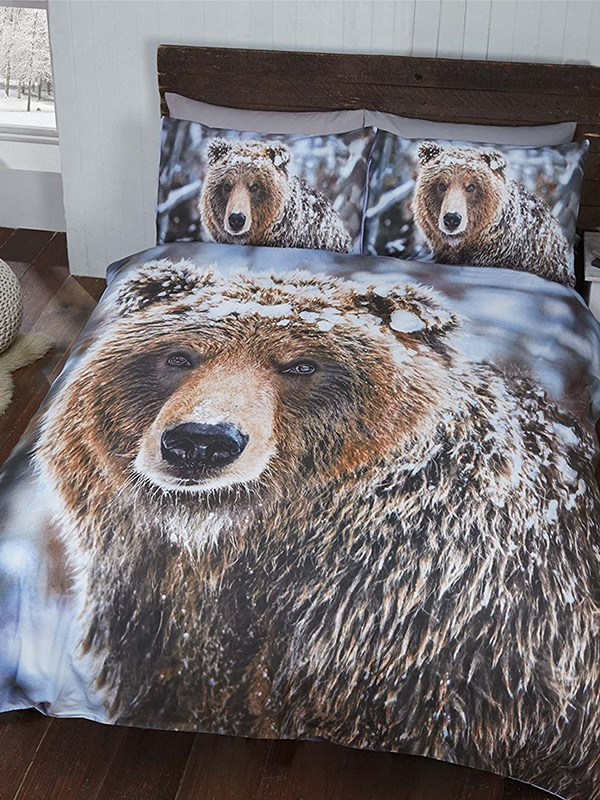 Big Bear Double Duvet Cover And Pillowcase Set