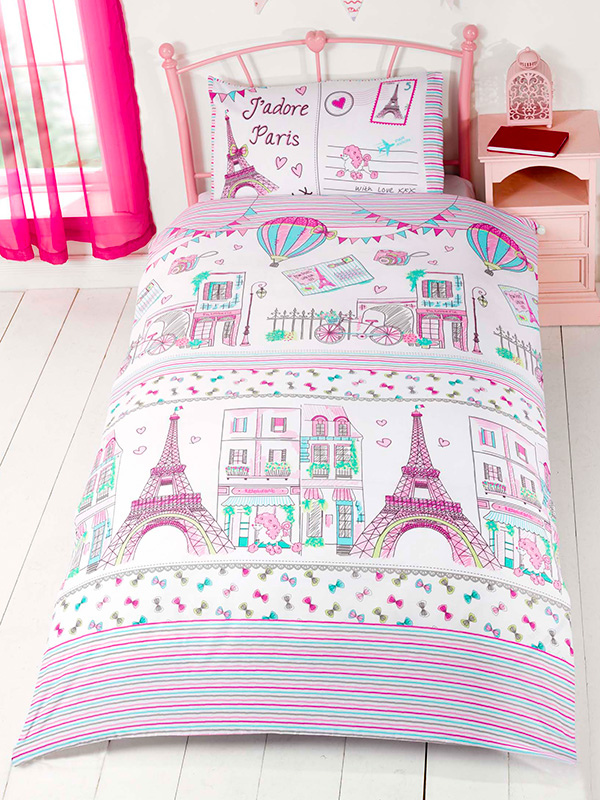 Price Right Home J'adore Paris Single Duvet Cover and Pillowcase Set