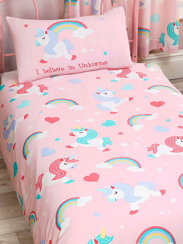 I Believe In Unicorns 4 in 1 Junior Bedding Bundle Set (Duvet, Pillow