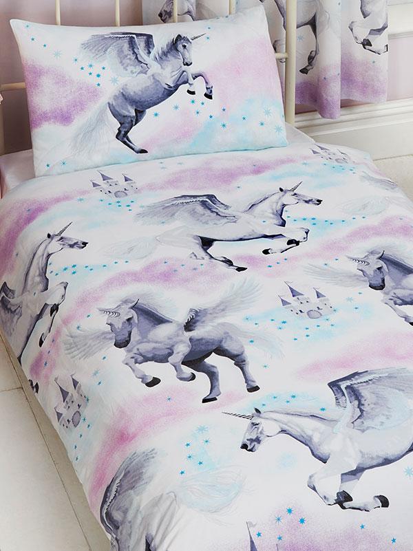 Stardust Unicorn 4 in 1 Junior Bedding Bundle Set (Duvet, Pillow and