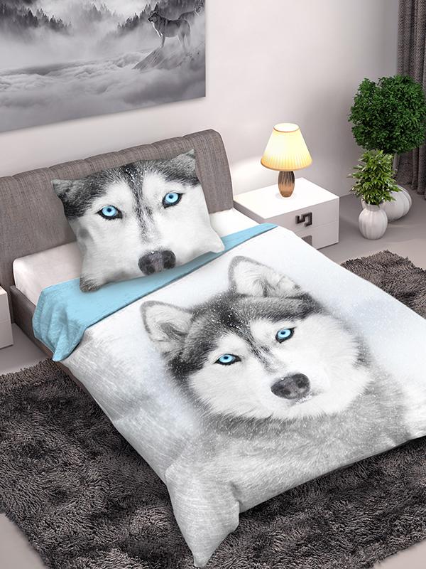husky dog single cotton duvet cover and pillowcase set