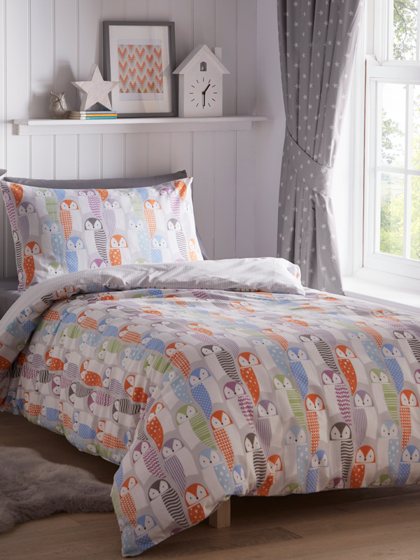 Owls 4 in 1 Junior Bedding Bundle (Duvet, Pillow and Covers)