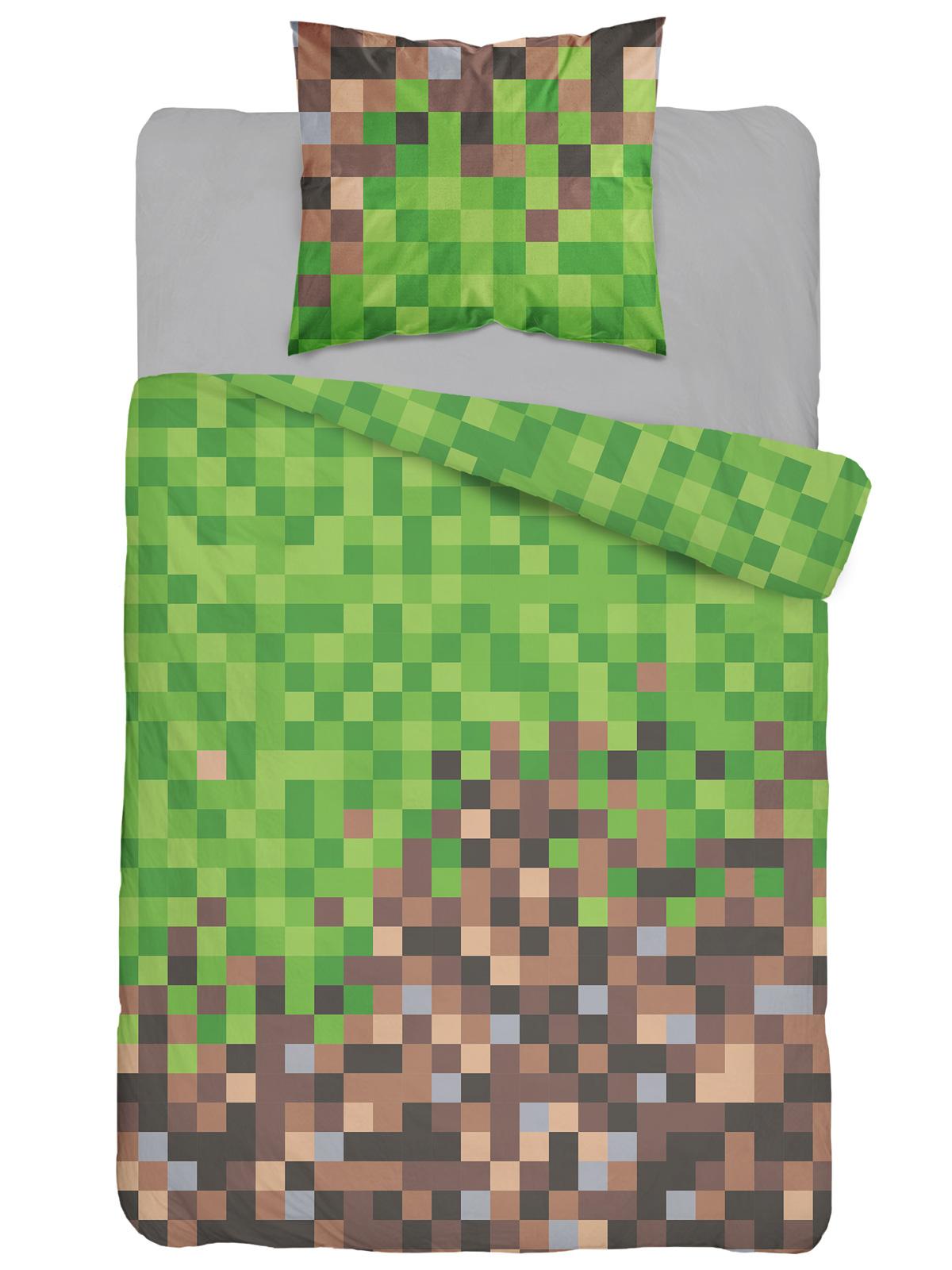 Mine Blocks Single Cotton Duvet Cover Set - European Size