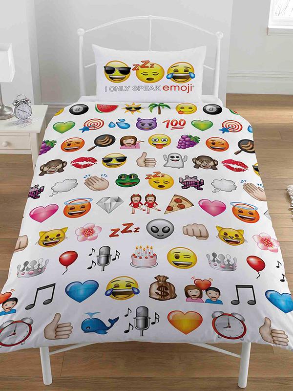Emoji Multi Single Duvet Cover and Pillowcase Set