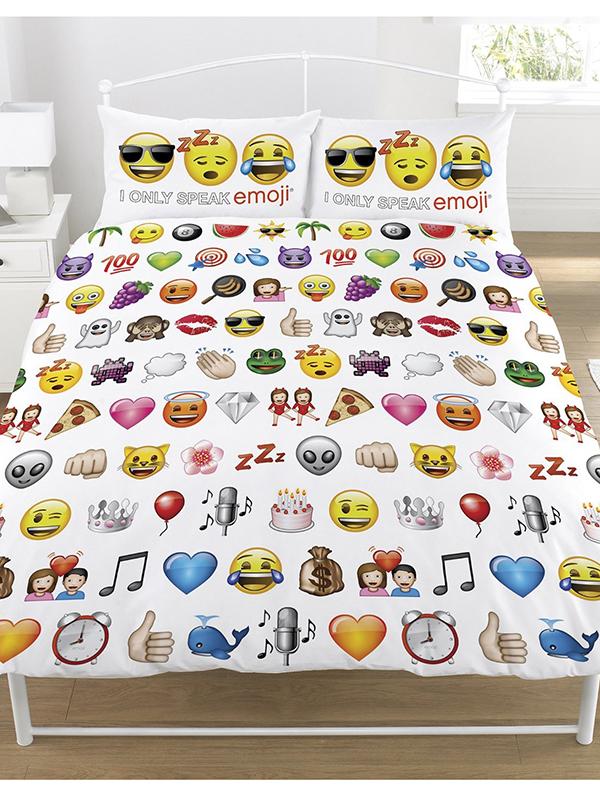 Emoji Multi Double Duvet Cover and Pillowcase Set