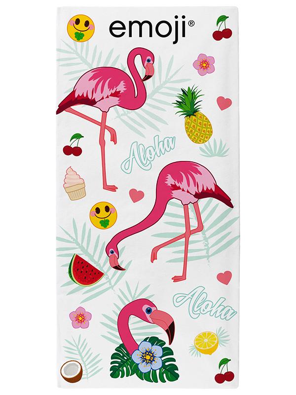 Home & Garden|Towels|Children's Bedding Emoji Flamingos Beach Towel