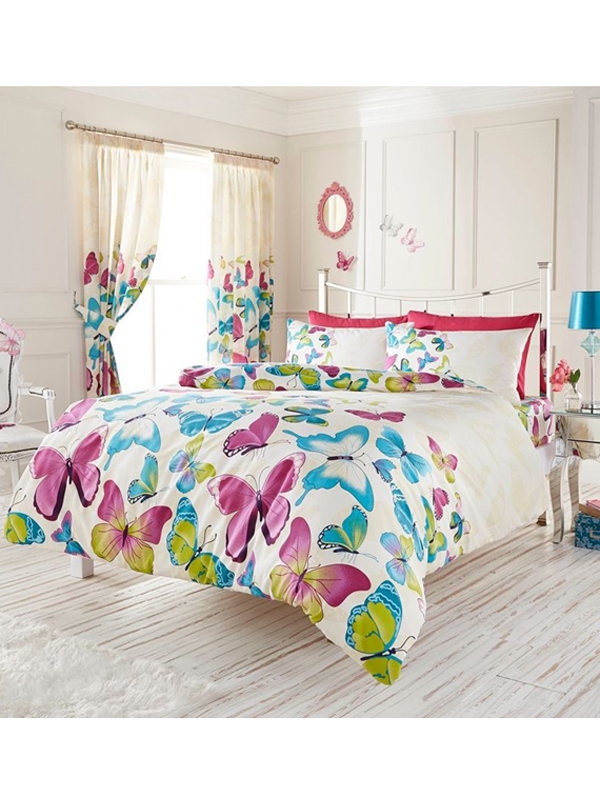 fashion butterfly single duvet cover and pillowcase set