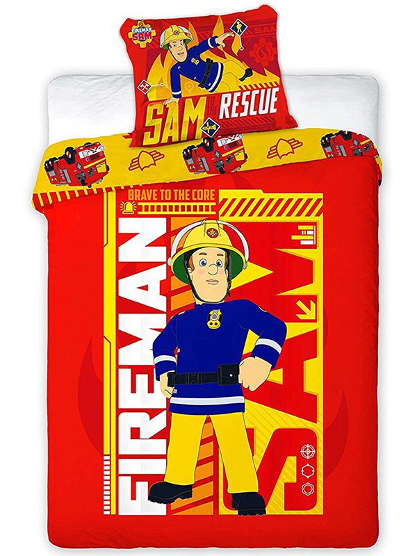 fireman sam rescue single duvet cover and pillowcase set