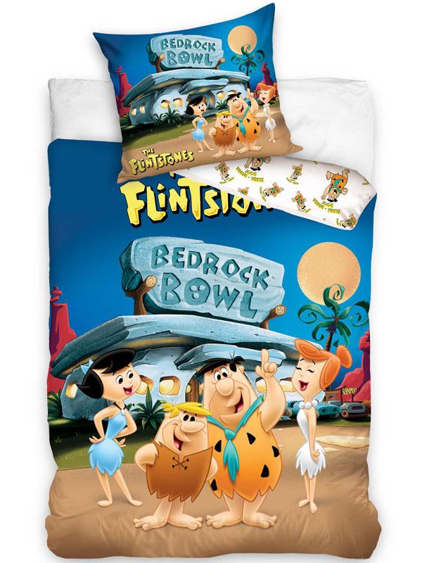 Flintstones Bedrock Bowl Single Cotton Duvet Cover Set - European Size