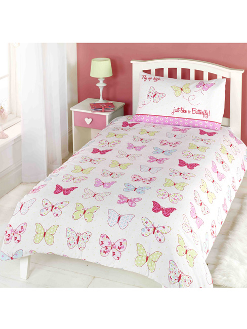fly up high butterfly single duvet cover and pillowcase set