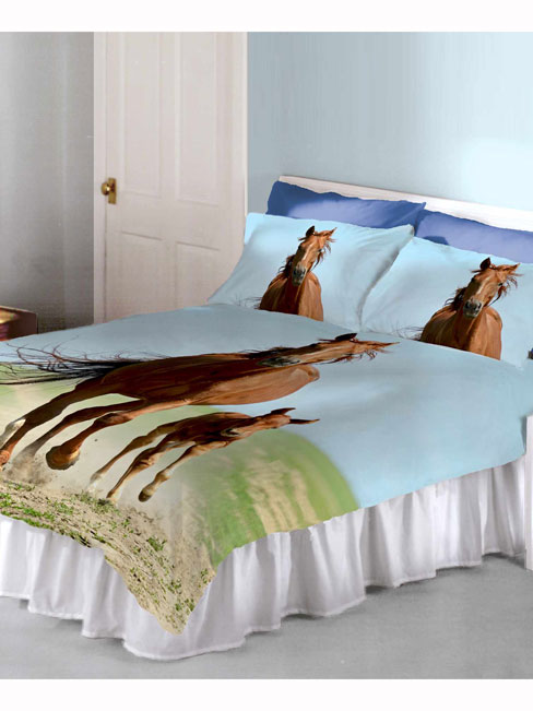 follow my lead horse and foal double duvet cover and pillowcase set
