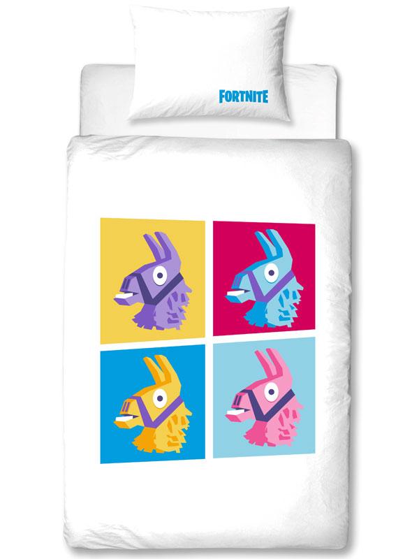 Official Fortnite Llamas Battle Royale Single Duvet Cover Set