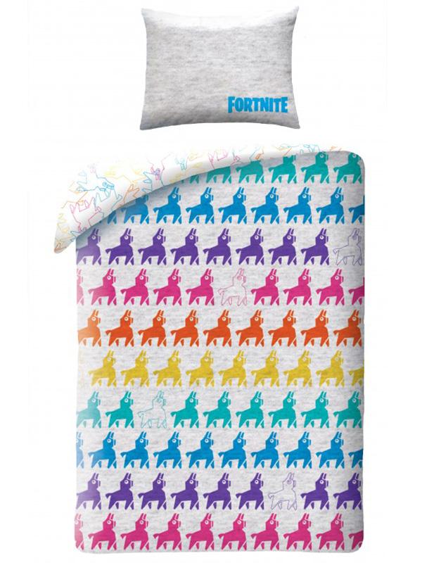 Official Fortnite Llama Drama Battle Royale Single Cotton Duvet Cover