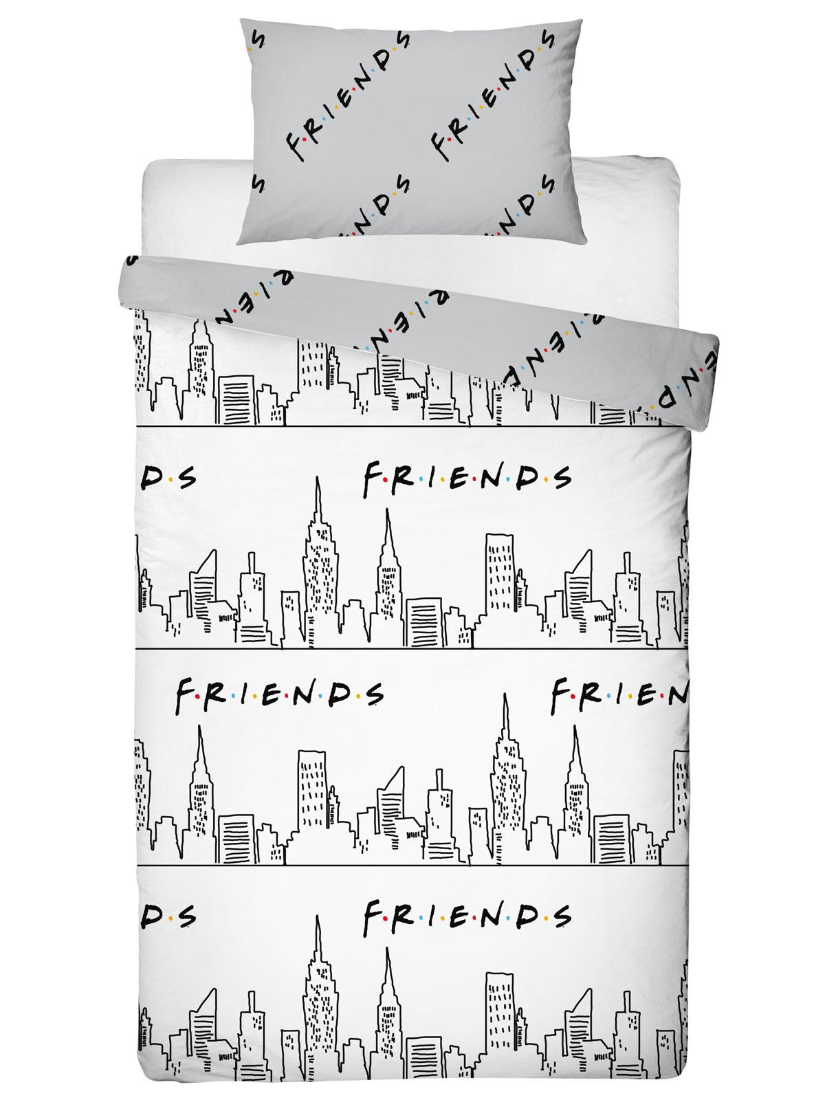 Friends Scene Single Duvet Cover and Pillowcase Set