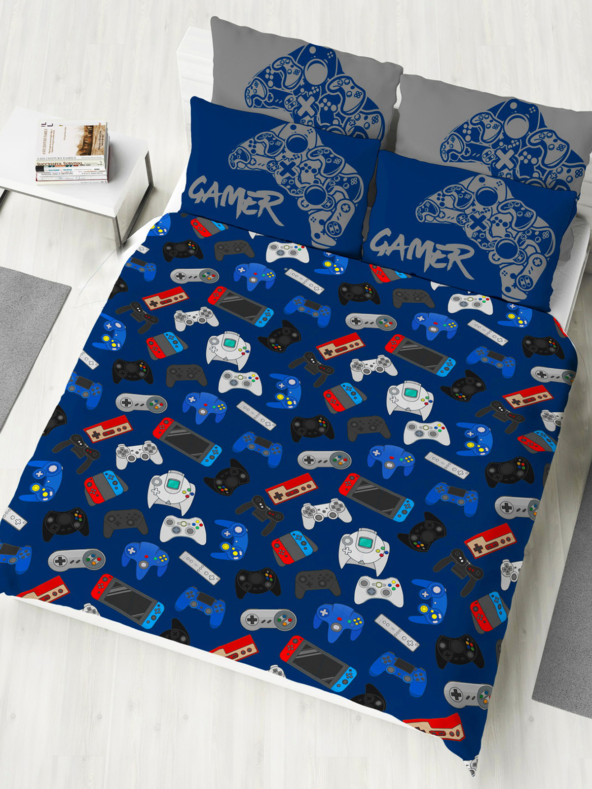 Gamer Double Duvet Cover and Pillowcase Set