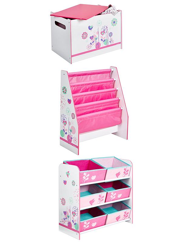 Flowers and Birds Bedroom Furniture Storage Set