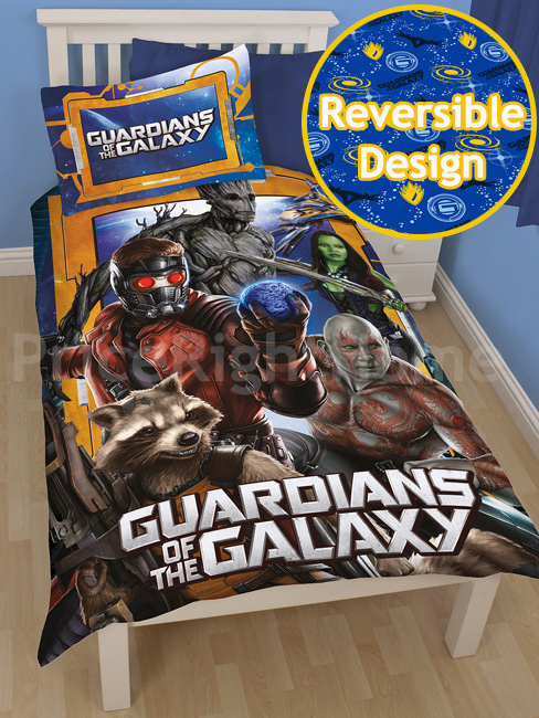 guardians of the galaxy misfits single duvet cover set