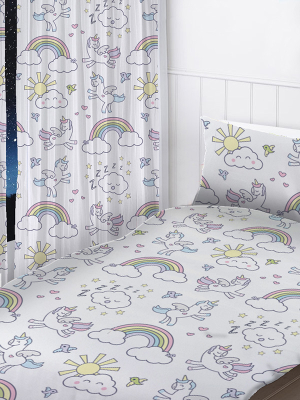 Pastel Unicorns Curtains