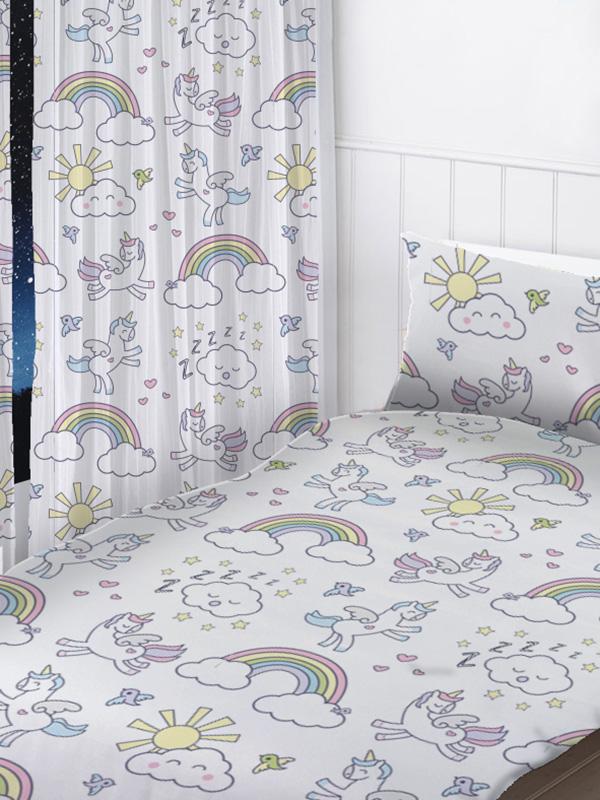 pastel unicorns curtains