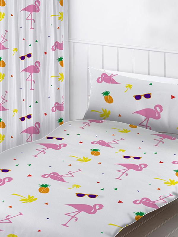 flamingos curtains