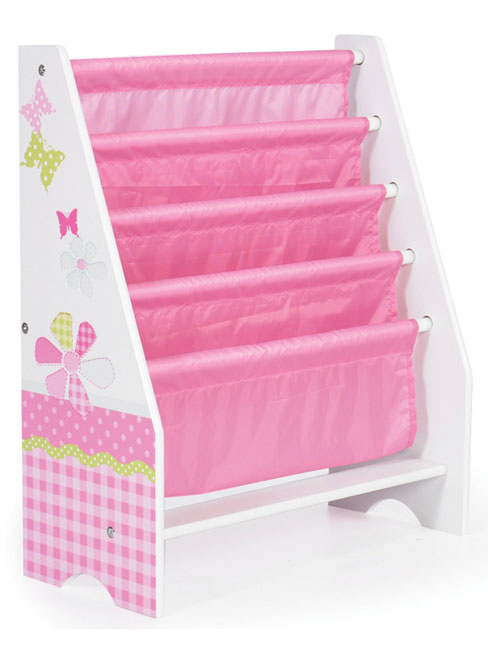 Girls Pink Patchwork Sling Bookcase