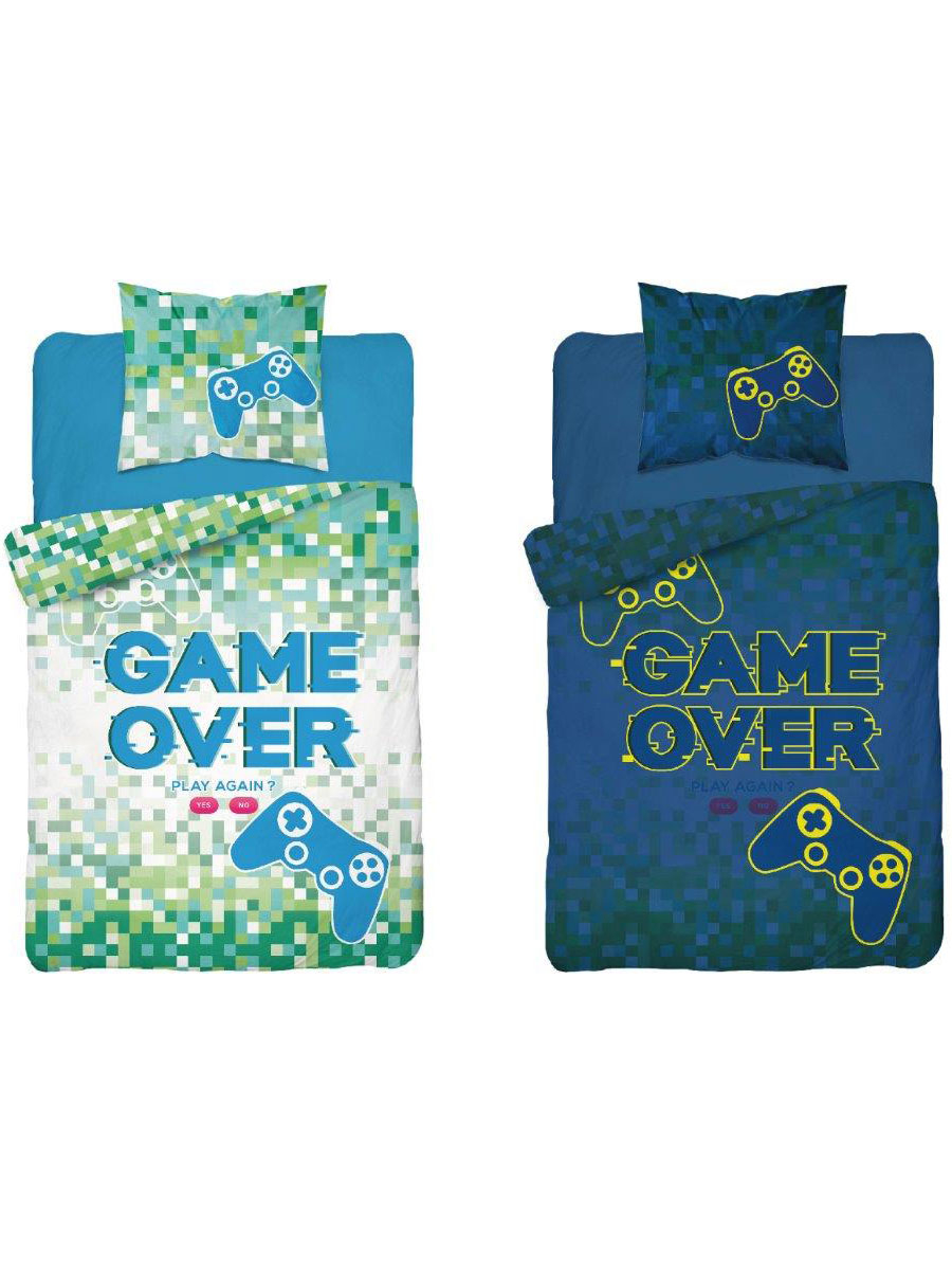 Game Over Glow in the Dark Single Duvet Cover - European Size