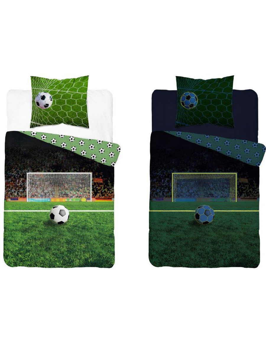 Football Glow in the Dark Single Duvet Cover - European Size