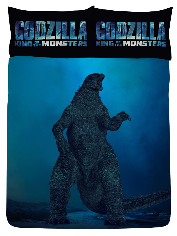 Godzilla Vs Ghidorah Double Duvet Cover Set