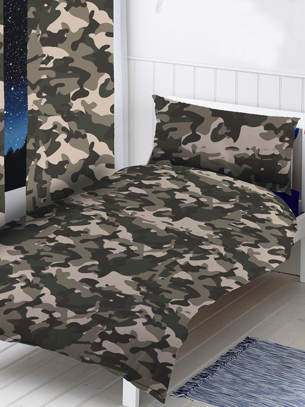 grey camouflage curtains