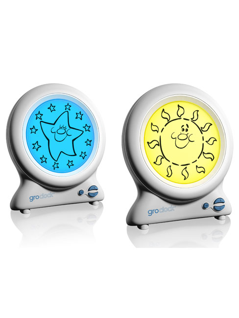 Gro Clock by the Gro Company Shows wake up time