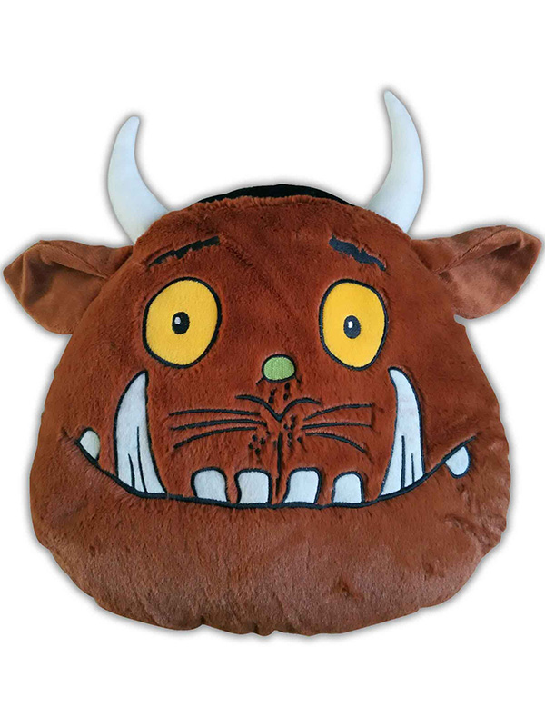 the gruffalo head shaped cushion