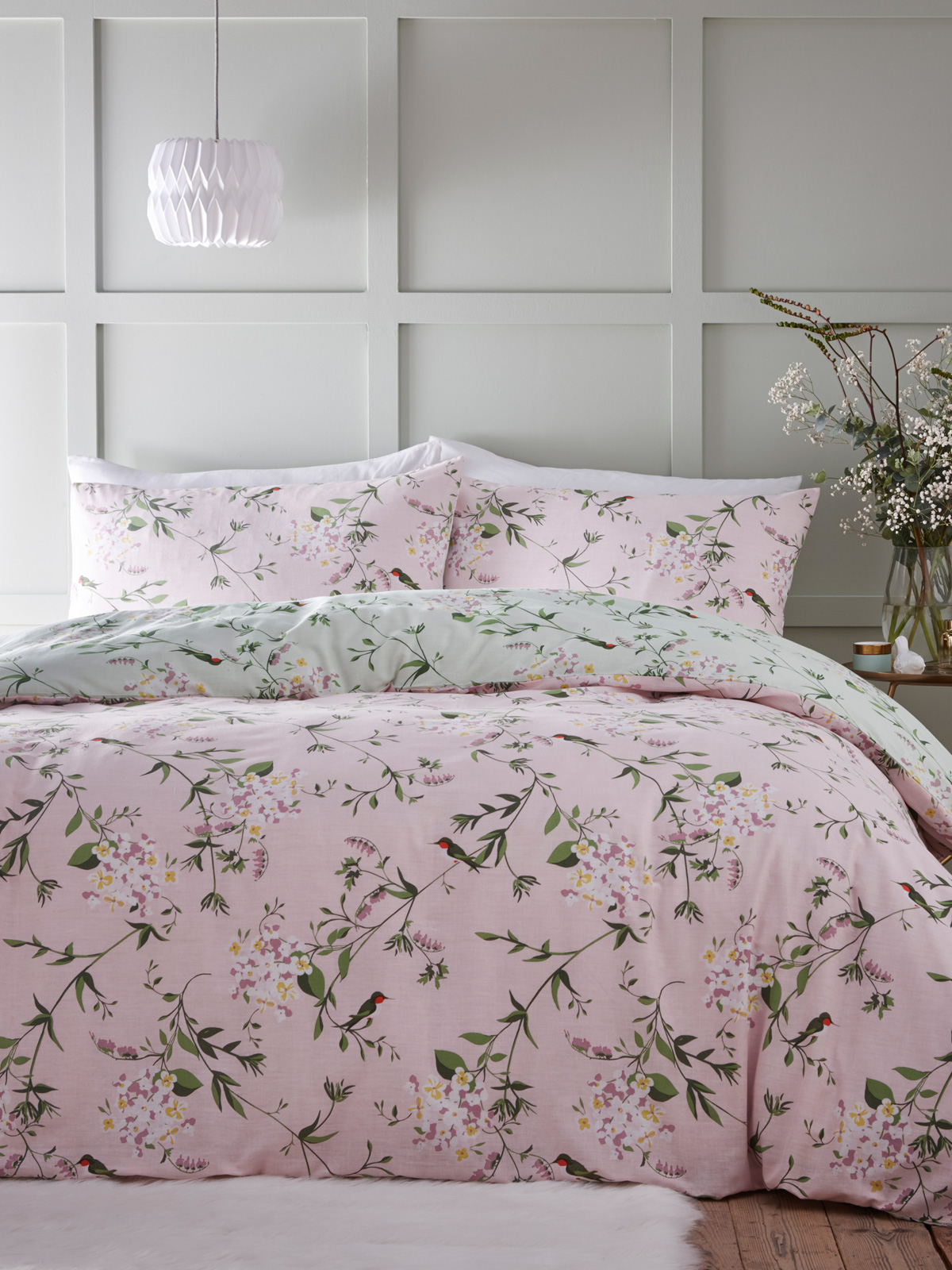 Portfolio Hummingbird King Size Duvet Cover Set