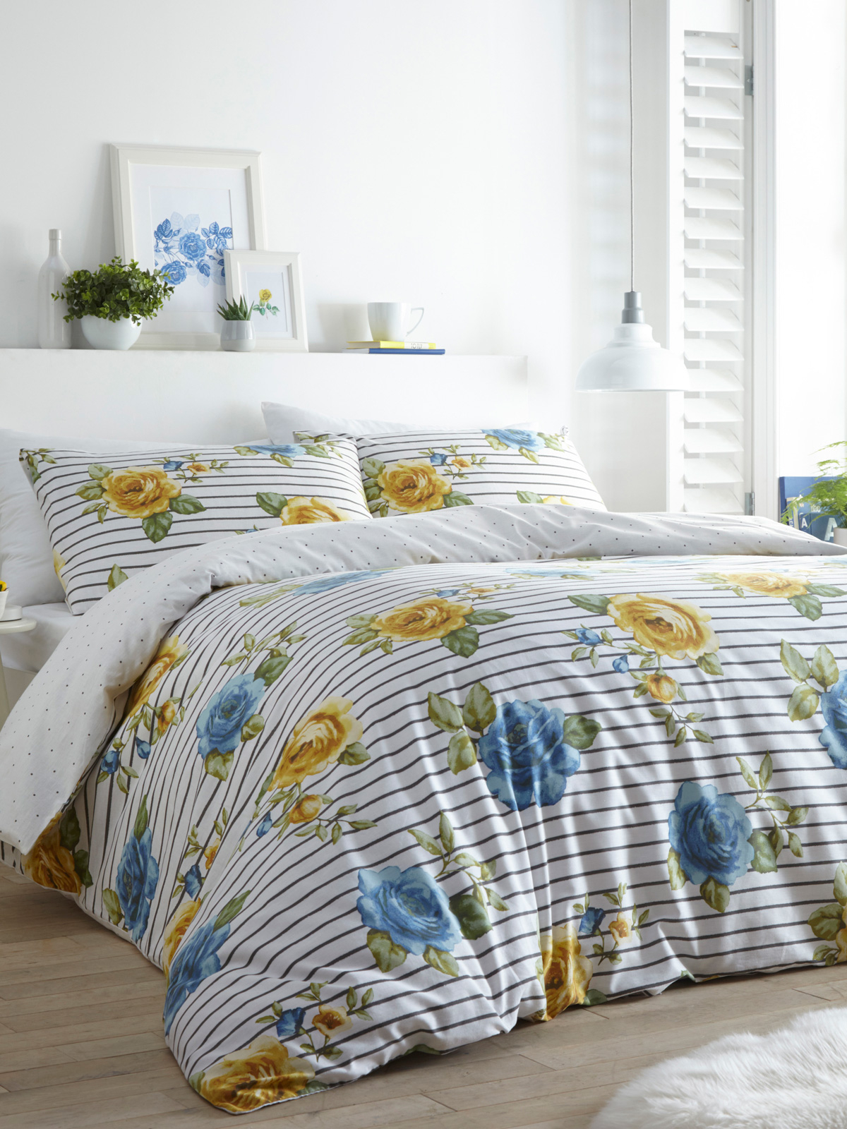 Portfolio Renee Lemon King Size Duvet Cover Set