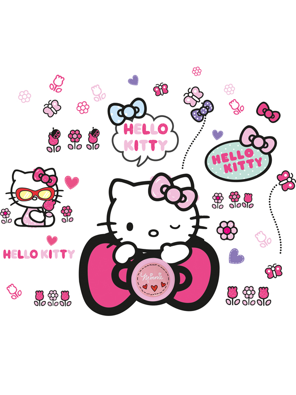 Hello Kitty Ding Dong Doorbell and Wall Stickers