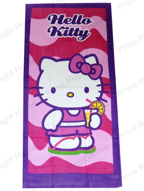 Hello Kitty Pink Beach Towel