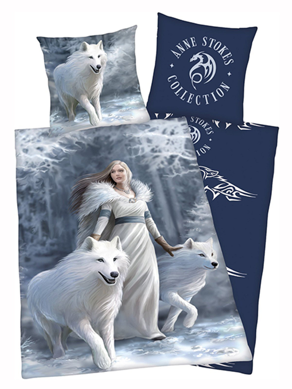 Anne Stokes Wolves Single Duvet Cover and Pillowcase Set