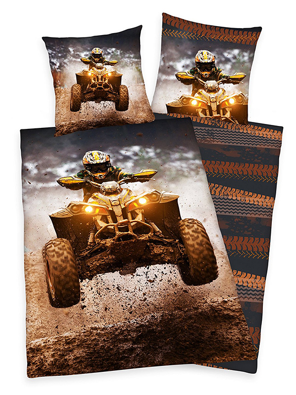 Price Right Home Quad Bike Single Duvet Cover and Pillowcase Set
