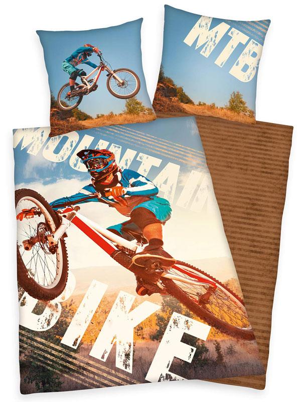 Mountain Bike Single Duvet Cover and Pillowcase Set