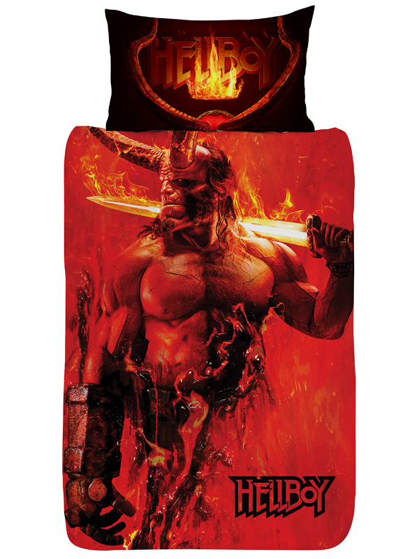 Hellboy Single Duvet Cover and Pillowcase Set