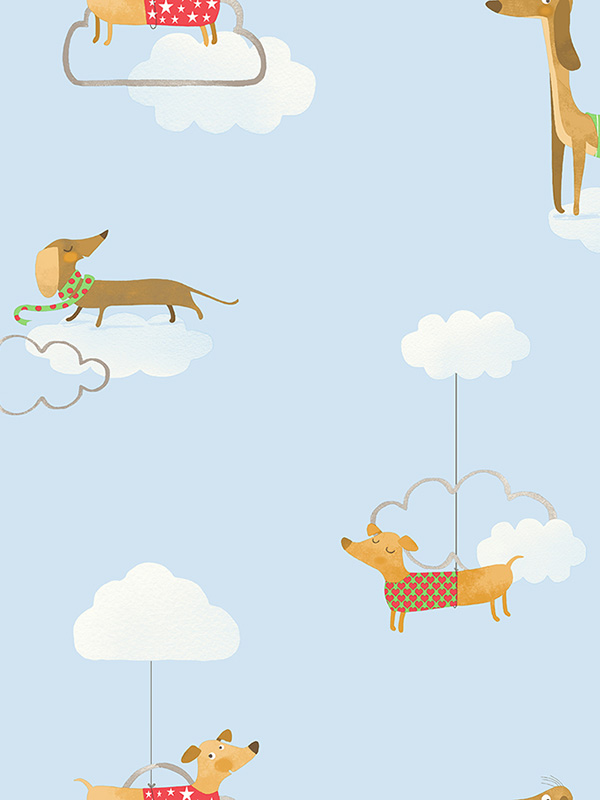 Price Right Home Walkies Sausage Dog Wallpaper Blue Holden 12550